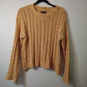 American Eagle Yellow Chunky Knit Sweater XS